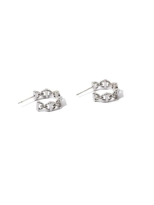 Pig nose Earrings Brass  Hollow Geometric Vintage Stud Earring