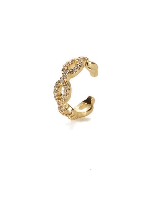 Zircon ear bone clip (sold separately) Brass Cubic Zirconia Geometric Hip Hop Single Earring