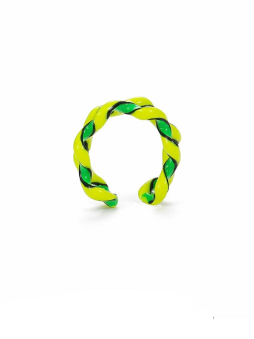 Five Color Zinc Alloy Enamel Geometric Minimalist Stackable Ring 3