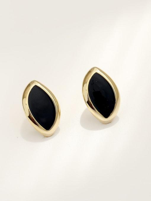 HYACINTH Brass Acrylic Geometric Vintage Stud Earring 0