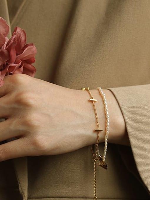 ACCA Brass Cross Minimalist Link Bracelet 1