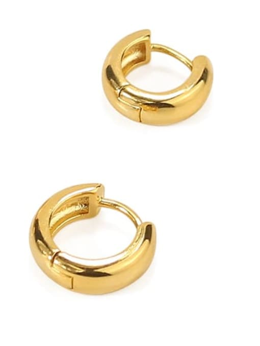 ACCA Brass Round Minimalist Huggie Earring(ONLY ONE PCS) 2