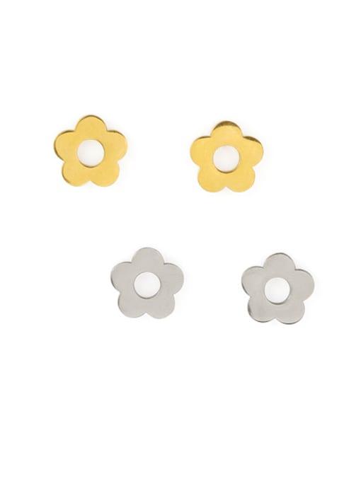 ACCA Titanium Flower Minimalist Stud Earring