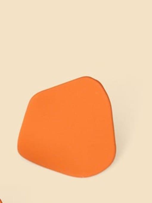 orange Alloy Enamel Geometric Cute Stud Earring