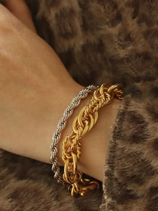 ACCA Brass Vintage  Hollow chain Bracelet 1