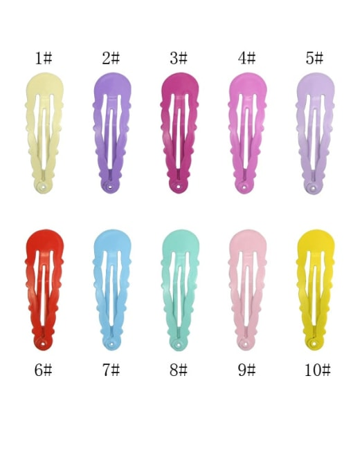 DINGHM Alloy Multi Color  Enamel Cute Water DropHair Barrette 1
