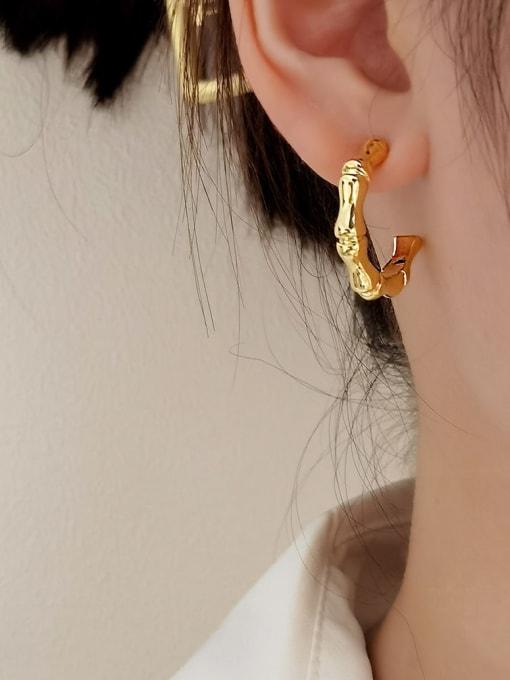 HYACINTH Brass Geometric Vintage Hoop Earring 0