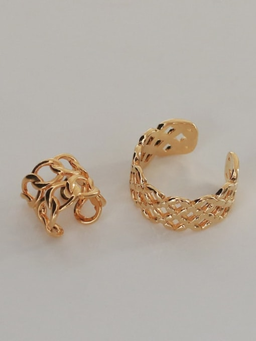 ACCA Brass Hollow Geometric Vintage Band Ring 2