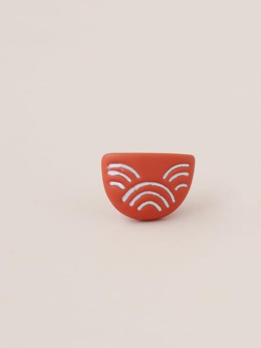 Five Color Alloy Enamel Geometric Cute Stud Earring 3