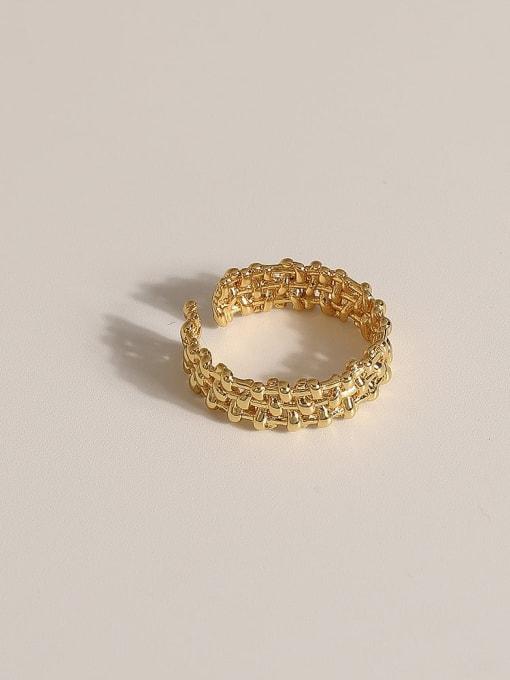 JZ085 Brass Geometric Vintage Band Ring