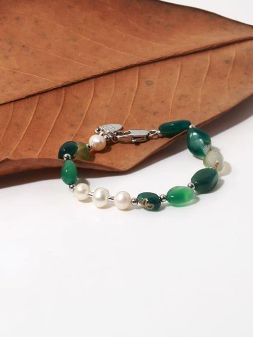 TINGS Brass Freshwater Pearl Irregular Vintage Beaded Bracelet 3