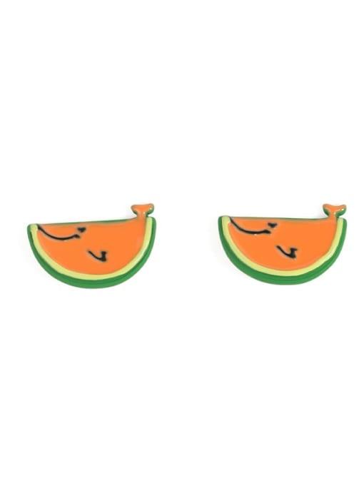 Five Color Alloy Enamel Friut Cute Stud Earring 0
