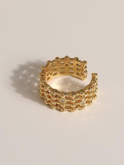 JZ108 Brass Geometric Vintage Band Ring