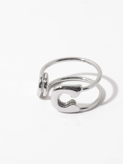 Pin ring (not adjustable) Brass Geometric Vintage Stackable Ring