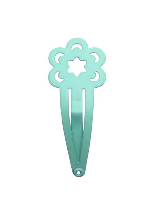7 mint green Alloy Multi Colo Enamel Cute Flowerr Hair Barrette