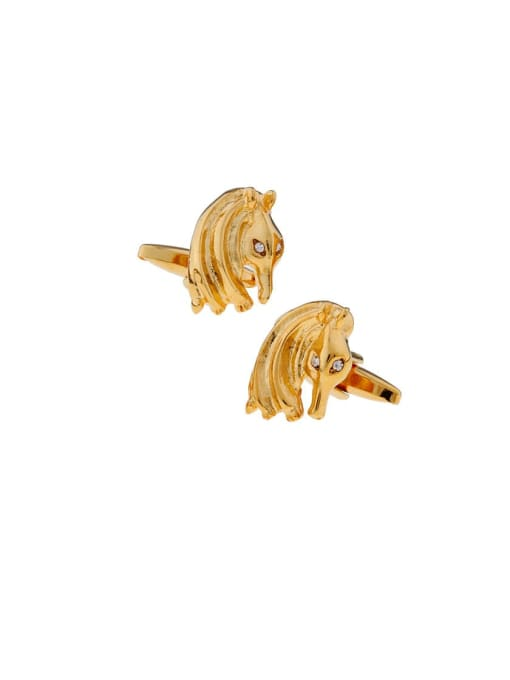 ThreeLink Brass Animal Vintage Cuff Link 0