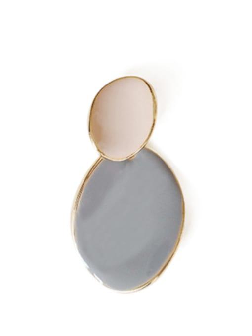 Bluish grey Alloy Enamel Geometric Cute Drop Earring