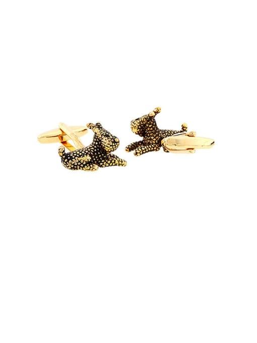 ThreeLink Brass Animal Vintage Cuff Link 0