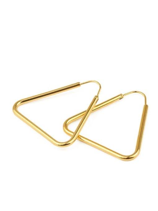 Triangular clasp Brass Geometric Minimalist Stud Earring