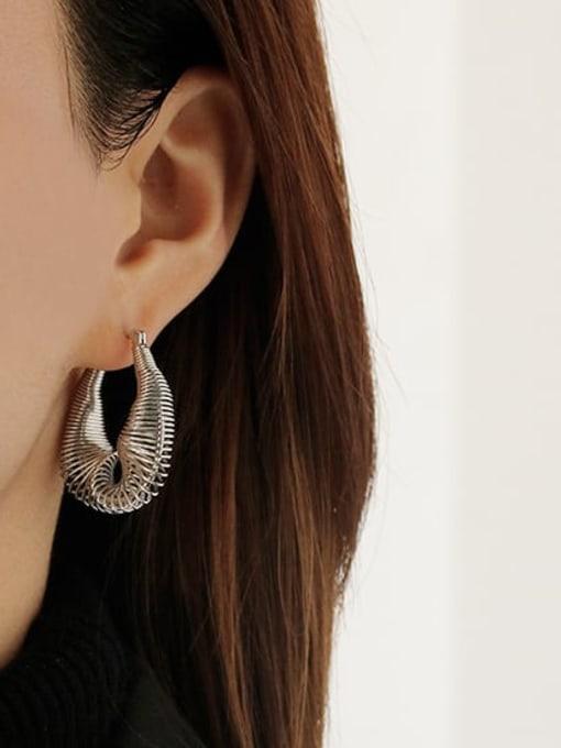 ACCA Brass Hollow Geometric Vintage Huggie Earring 1
