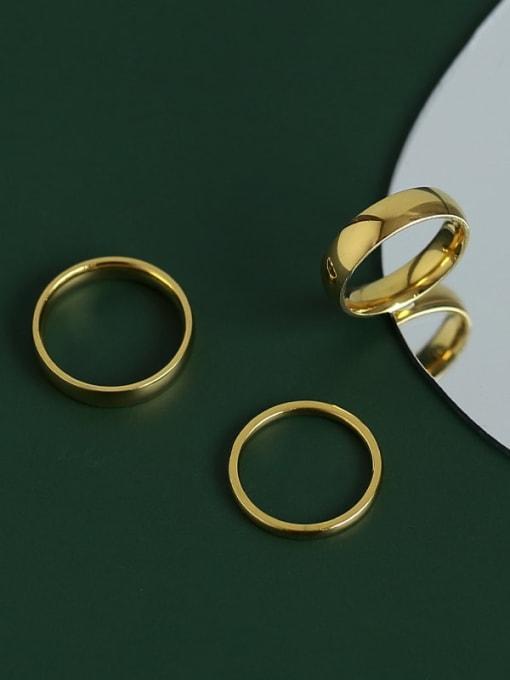 Five Color Titanium Steel Round Minimalist Band Ring 0
