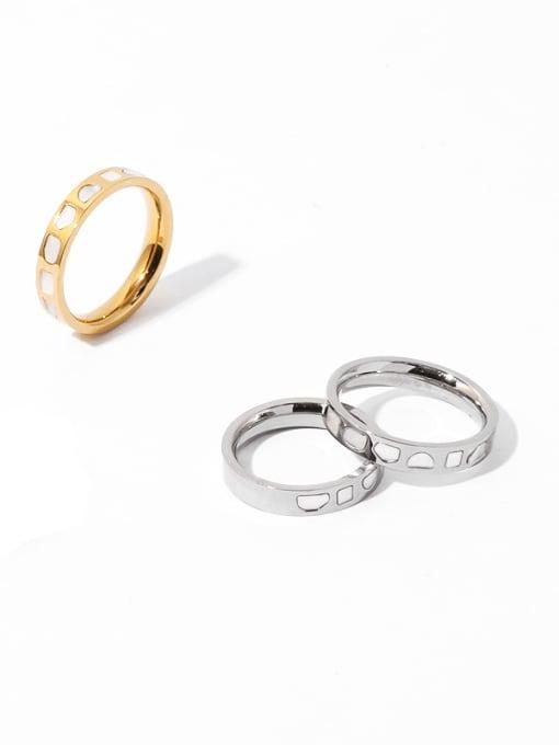TINGS Brass Shell Irregular Vintage Band Ring 0