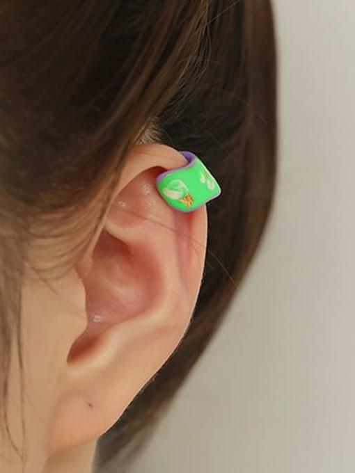 ACCA Brass Enamel Butterfly Minimalist Single Earring 3
