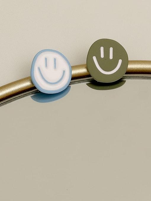 HYACINTH Copper Enamel Smiley Minimalist Stud Earring 2