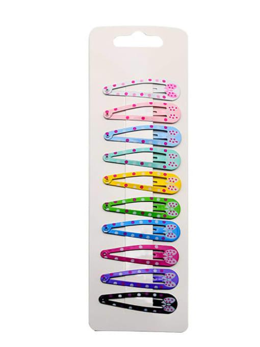 5 Alloy Multi Color Enamel Cute Water Drop  Hair Barrette