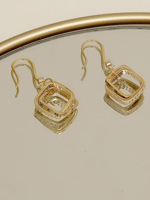 HYACINTH Copper Cubic Zirconia Geometric Minimalist Hook Earring 3