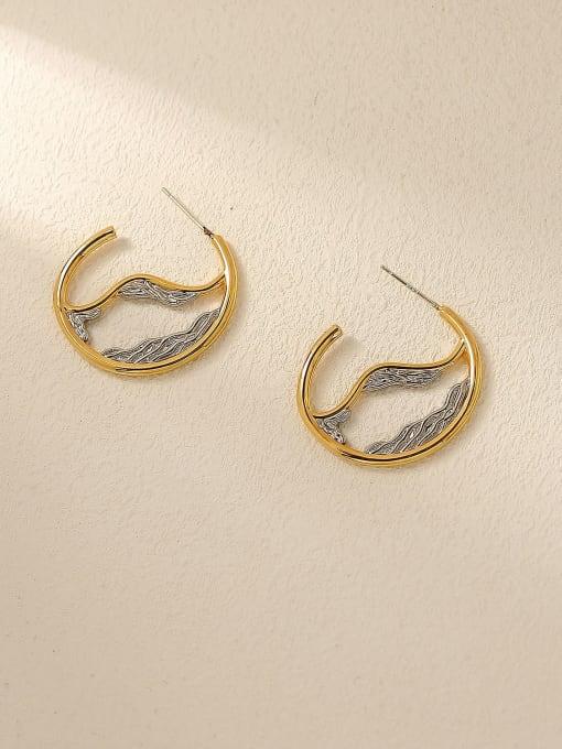 HYACINTH Brass Geometric Vintage Drop Earring 3
