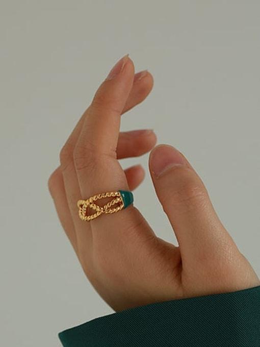 ACCA Brass Enamel Cross Vintage Band Ring 1