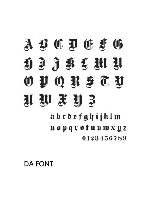 dA Stainless steel Letter Minimalist Custom Name Earrings