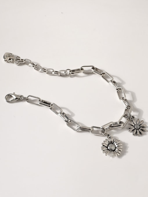 Retro Brass Hollow  Geometric Chain Vintage Link Bracelet