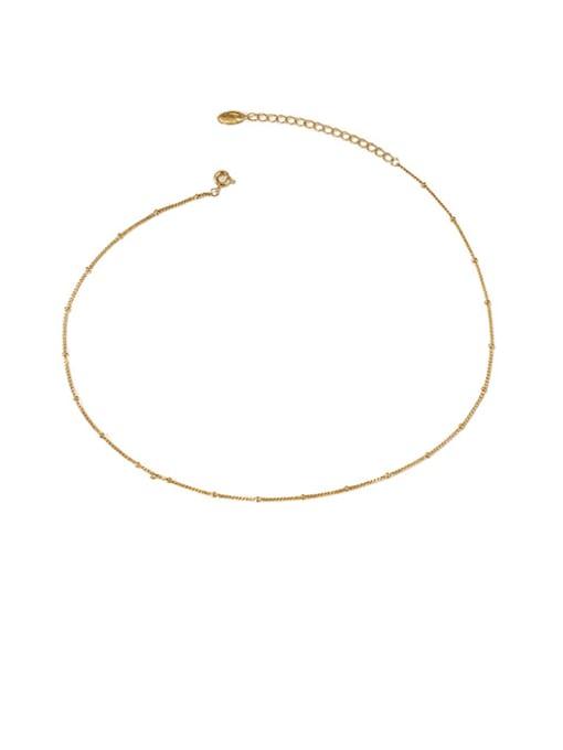 ACCA Brass Irregular Minimalist Bead Chain 1