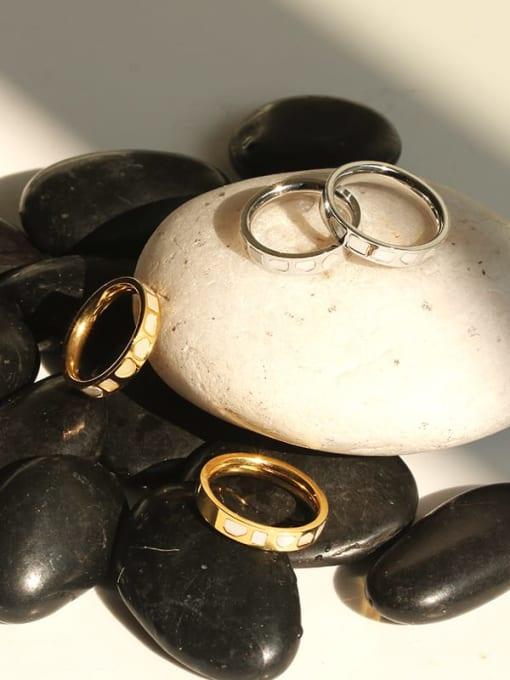 TINGS Brass Shell Irregular Vintage Band Ring 4