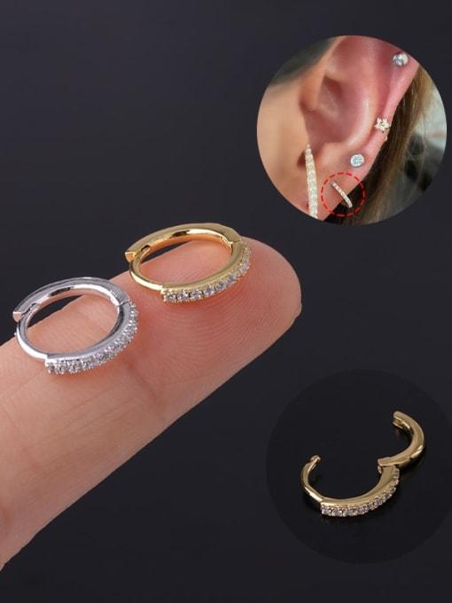 HISON Brass Cubic Zirconia Geometric Minimalist Single Earring