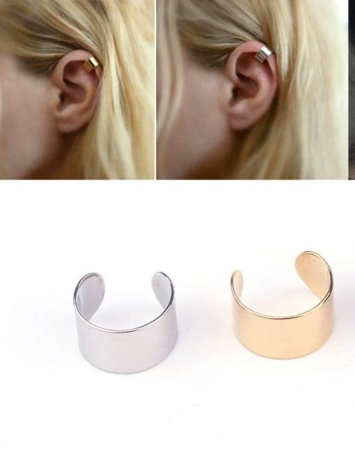 HISON Stainless steel Geometric Minimalist Clip Earring 3