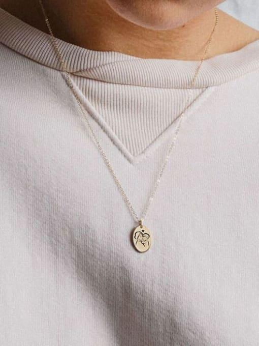 Desoto Stainless steel Geometric Minimalist  Trpe Lettering  Necklace 2