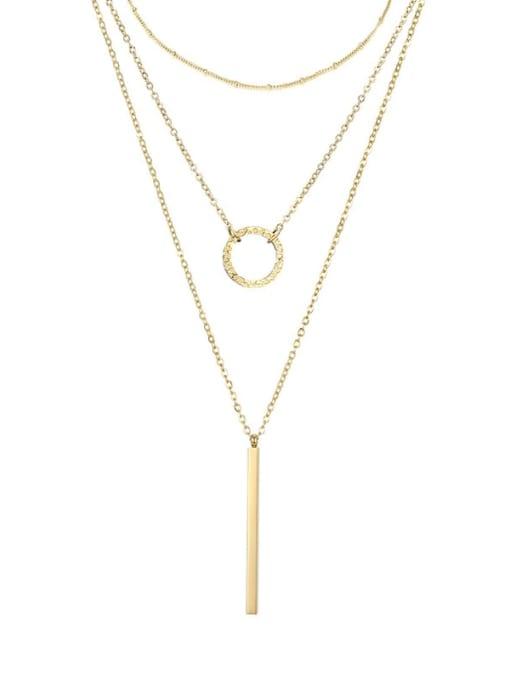 Desoto Stainless steel Round Minimalist Multi Strand Necklace