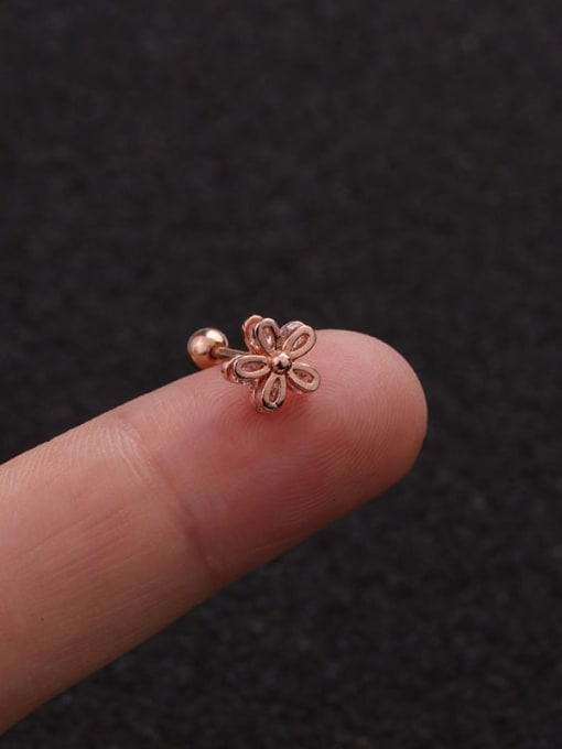 Rose Gold 1#(Single) Brass Cubic Zirconia Bowknot Minimalist Stud Earring