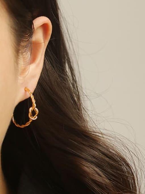 ACCA Brass Cubic Zirconia Geometric Hip Hop Stud Earring 3