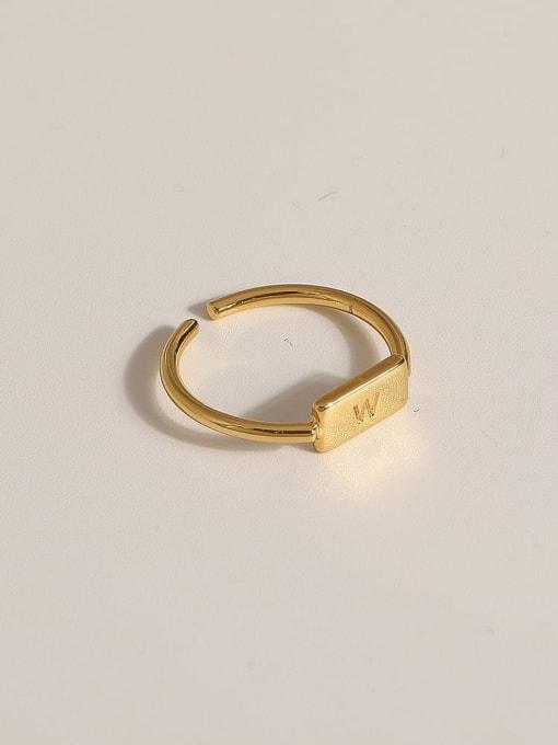 JZ111 Brass Geometric Vintage Band Ring
