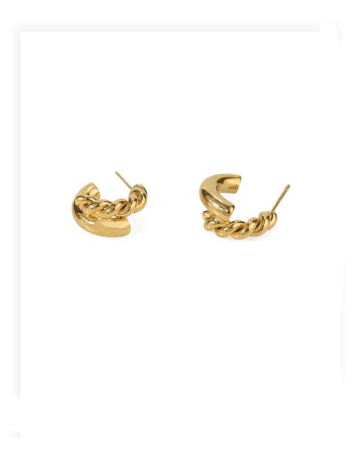 ACCA Brass Irregular Hip Hop Stud Earring