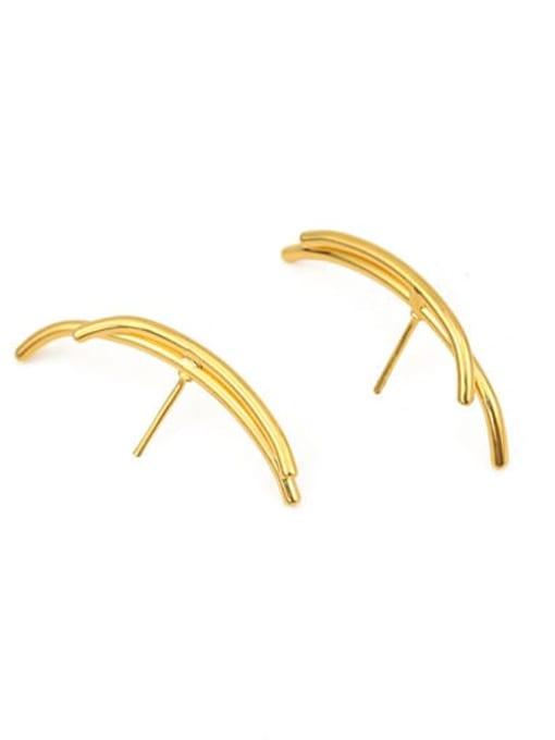 ACCA Brass Ball Hip Hop Stud Earring 1