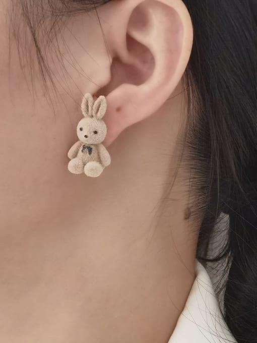 HYACINTH Brass Rabbit Cute Stud Earring 1