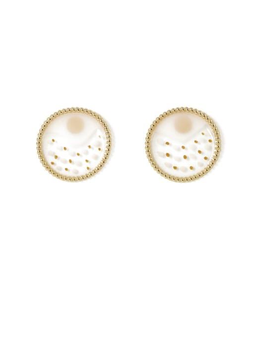 Five Color Alloy Enamel Geometric Ethnic Stud Earring