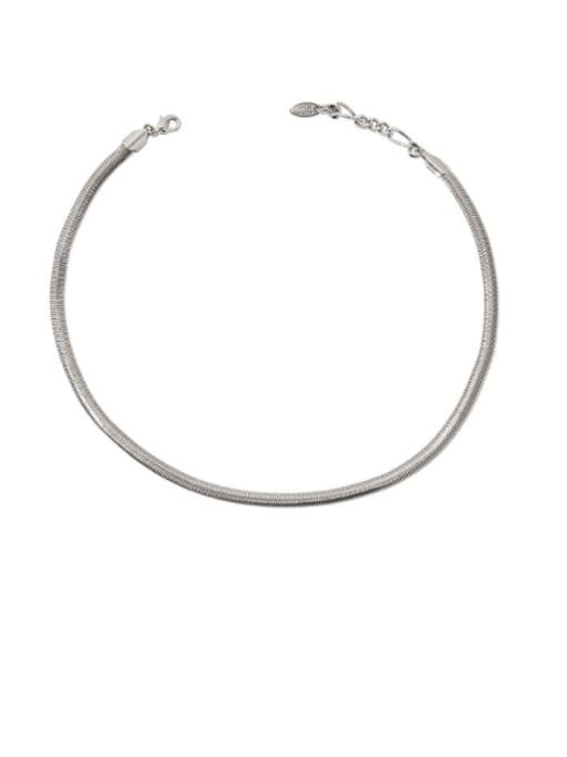 TINGS Brass Snake Minimalist Necklace