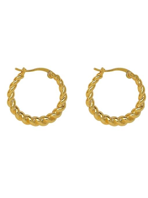 HYACINTH Brass Geometric Minimalist Hoop Earring