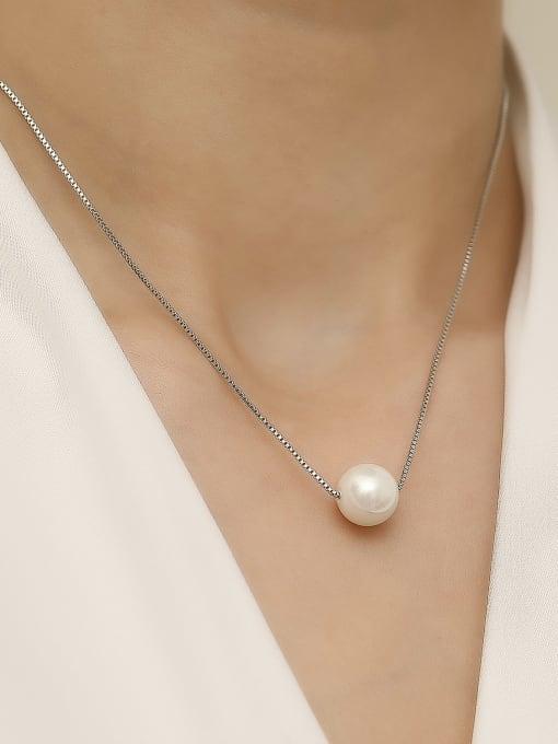 HYACINTH Brass Imitation Pearl Locket Minimalist Trend Korean Fashion Necklace 2